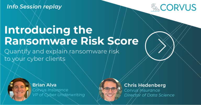 Introducing the Ransomware Risk Score